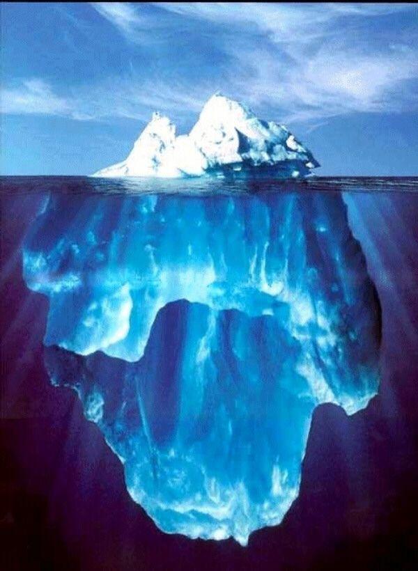 El comportamiento humano sólo sería la punta del iceberg, lo visible.