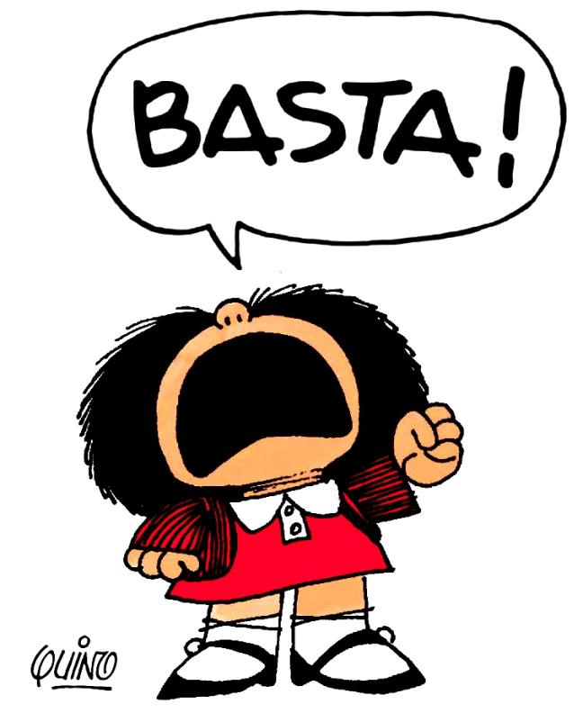 Mafalda grita ¡BASTA!