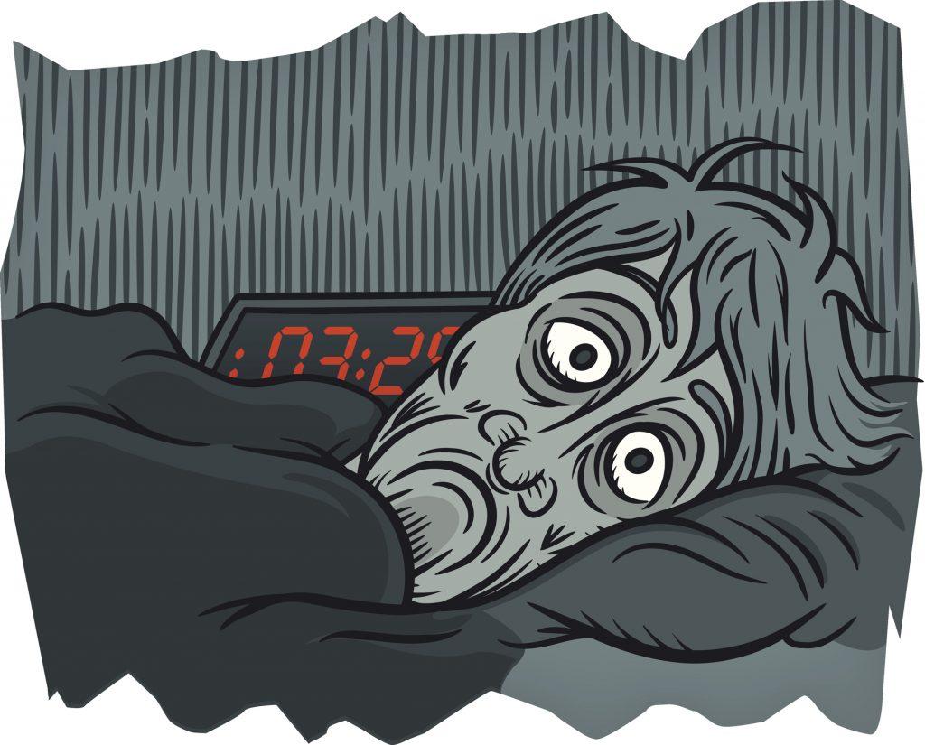 El insomnio y otros trastornos del sueño pueden provocar estados alterados muy acusados, a causa del fuerte estrés que provoca la falta de sueño